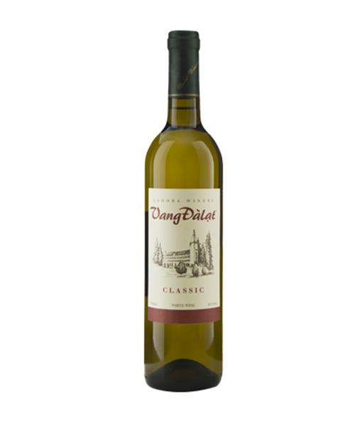 rượu vang đà lạt classic white wine , rượu vang trắng