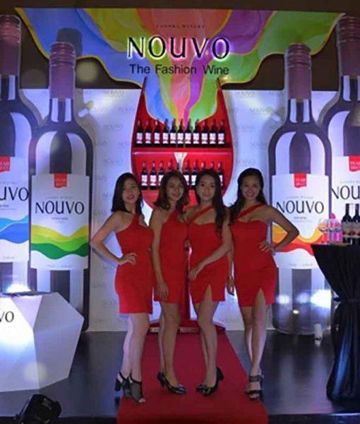 Rượu Vang Nouvo rượu vang dành cho phái nữ tài trợ cho Vietnam Fashion Show