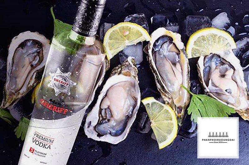 Rượu Vodka Men Sheriff tuyệt hảo khi được dùng kèm với hải sản