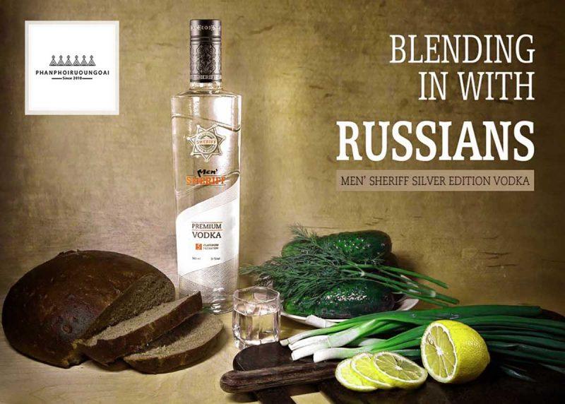 Rượu Vodka Men Sheriff kết hợp với thực phẩm nga