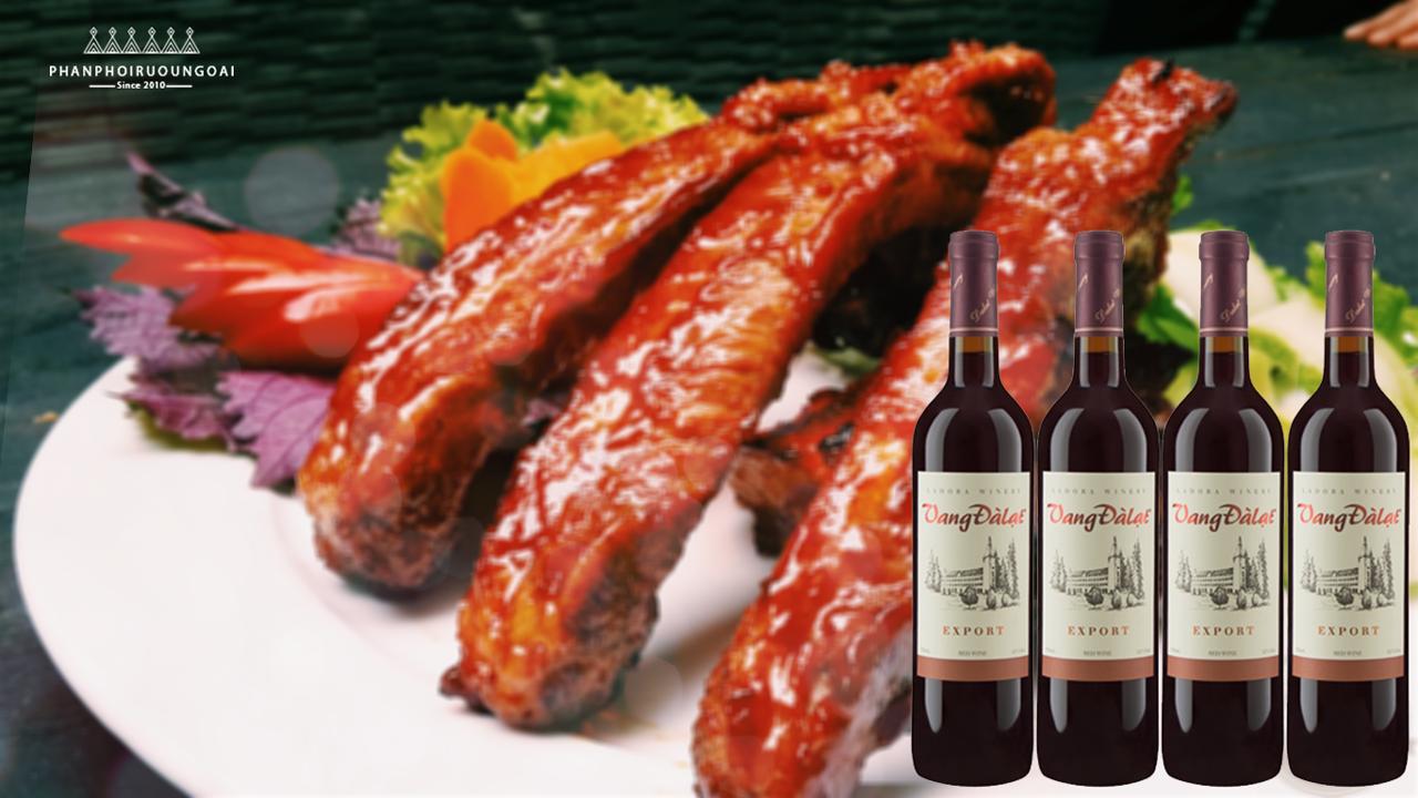 Sườn cừu nướng và rượu vang đà lạt export red