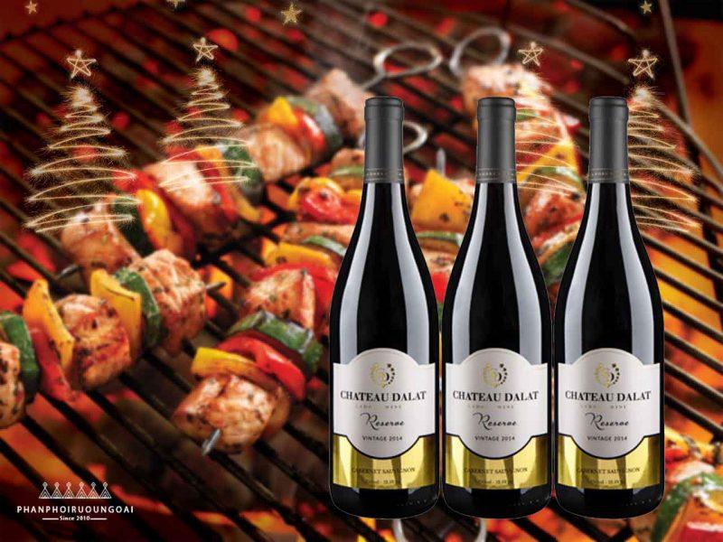 Thịt nướng và Rượu Chateau Dalat Reserve -Cabernet Sauvignon