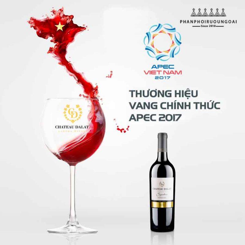 Rượu vang Chateau Dalat rượu vang chính thức tại APEC 2017