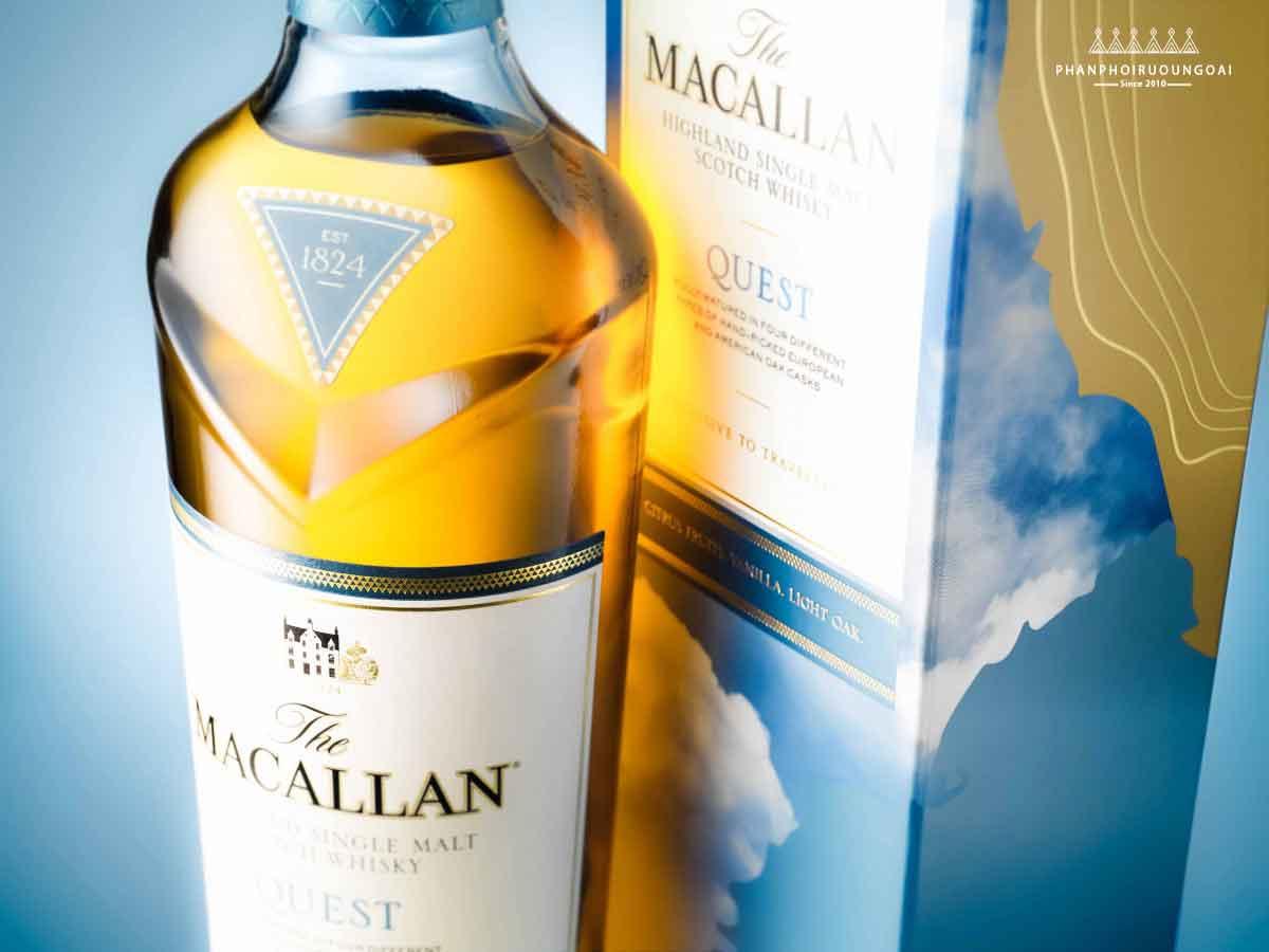 Ảnh chụp thực tế rượu Macallan Quest - The Macallan