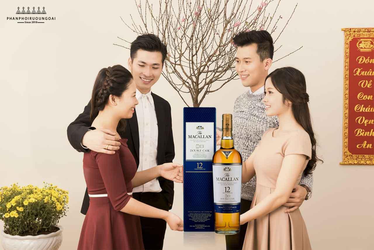 Biếu tặng gia đình và người thân rượu Macallan 12 Double Cask