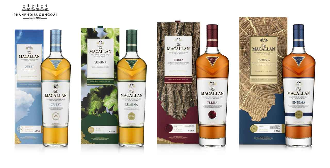 Các chai rượu Macallan Quest và hộp