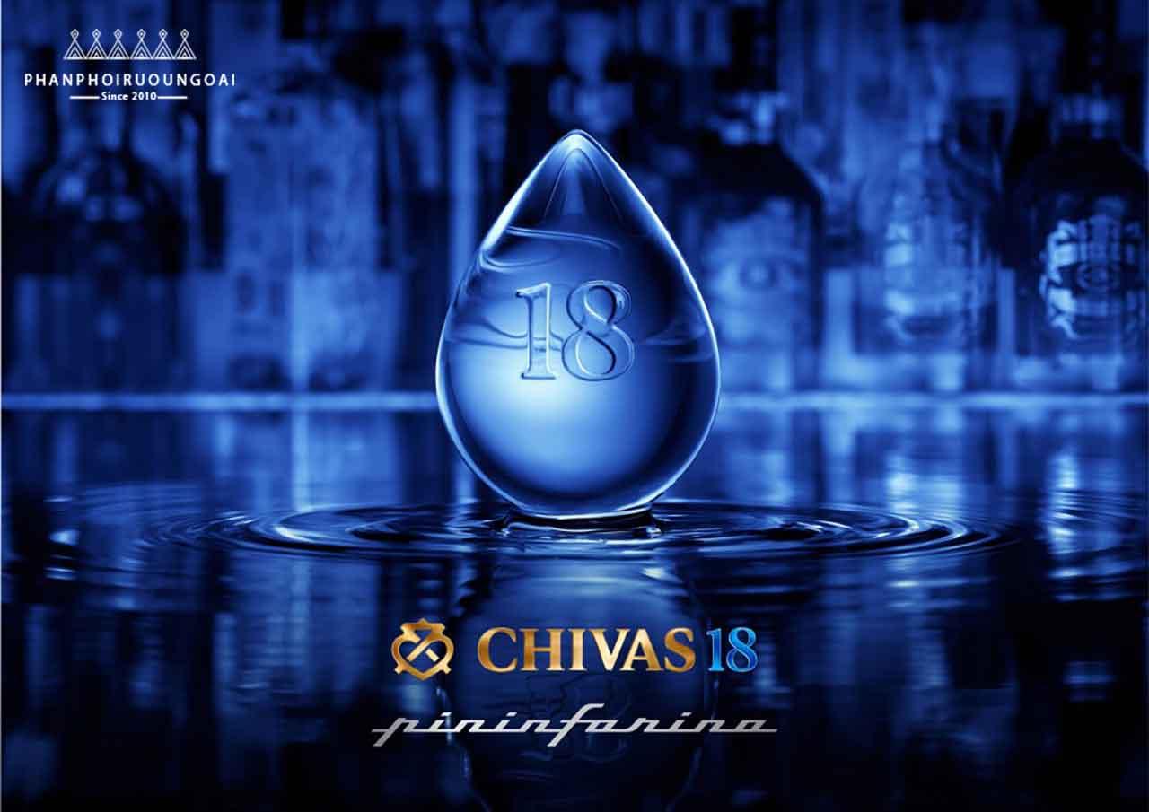 Hình ảnh tinh tuý từng giọt với rượu Chivas 18 Pininfarina