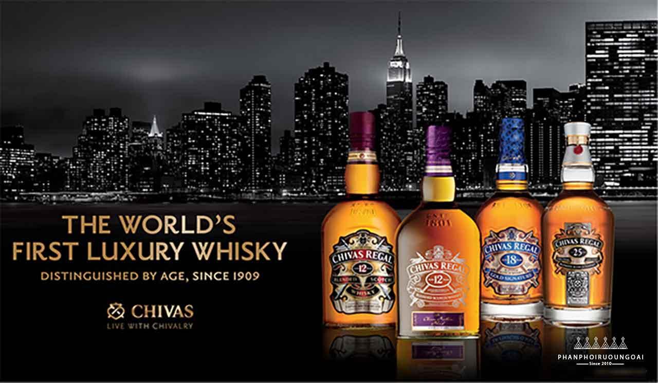 Rượu Chivas được xem như một loại whisky sang trọng trong nhiều năm