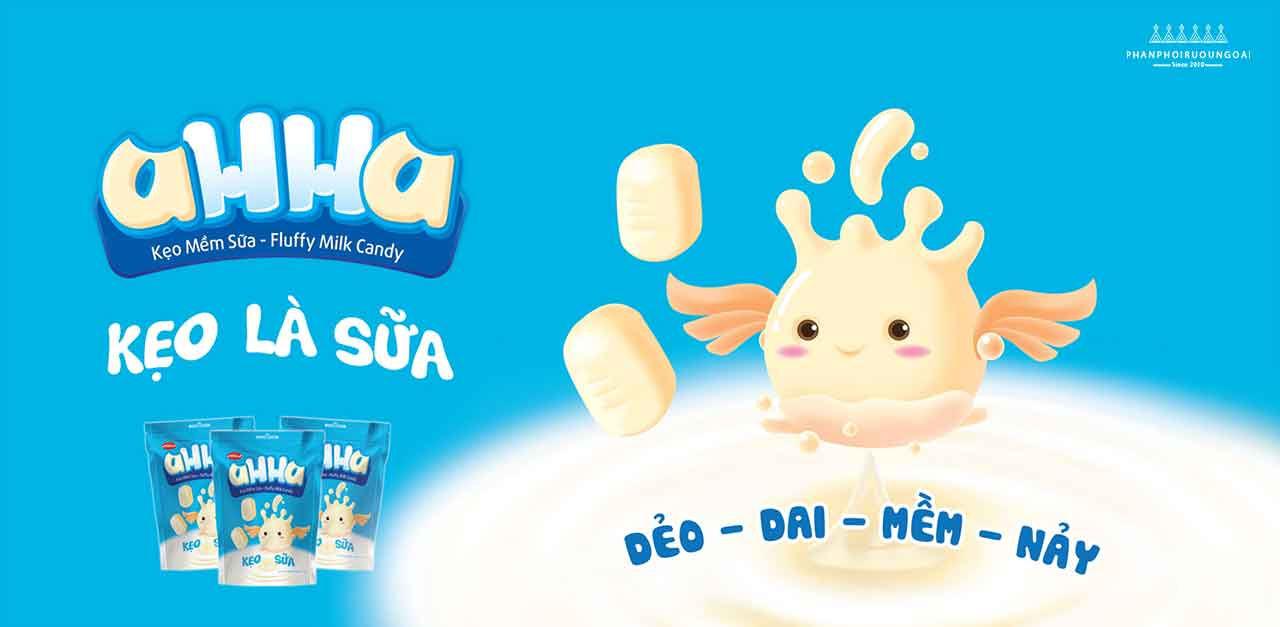 Kẹo sữa Ahha 2018 - Bánh Kẹo Bibica