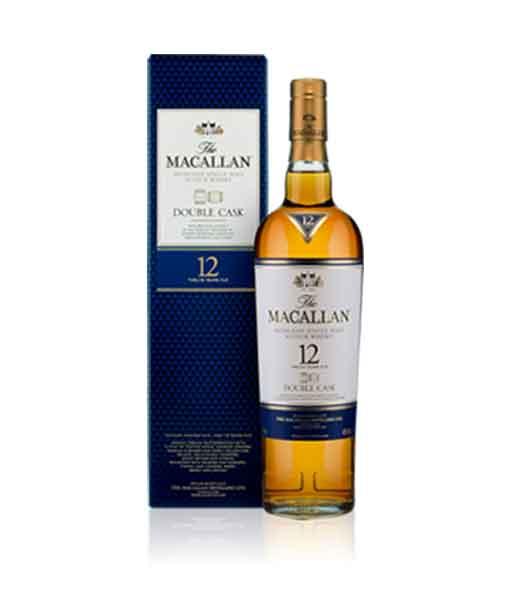 Rượu Macallan 12 Double Cask và hộp rượu