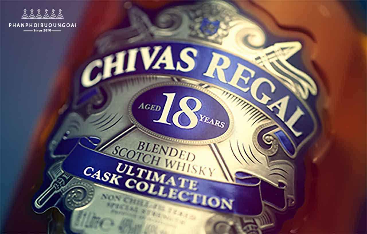 Nhãn chai rượu chivas 18 Ultimate Cask Collection