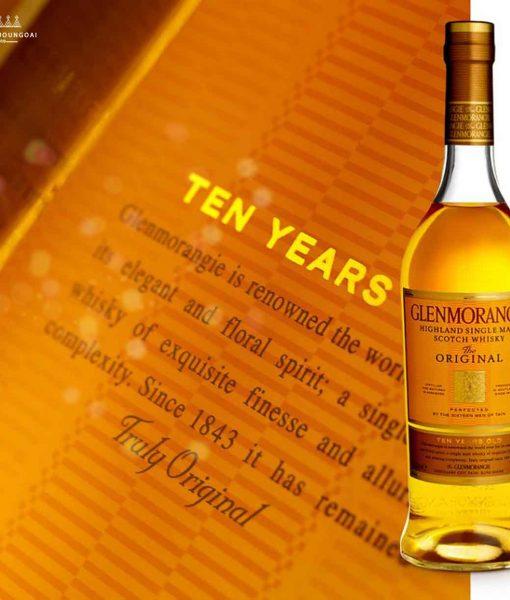 Nhãn chai rượu Glenmorangie 10 năm tuổi