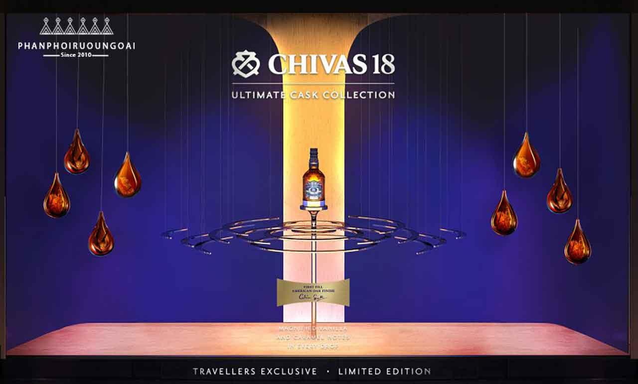 Rượu chivas 18 Ultimate Cask Collection hoàn thành với thùng gỗ sồi Mỹ (American Oak)