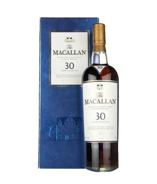 Rượu Macallan 30 năm Sherry Oak và hộp