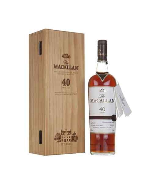 Rượu Macallan 40 năm và hộp gỗ