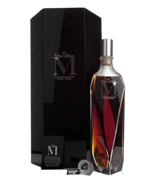 Rượu Macallan M và Hộp da