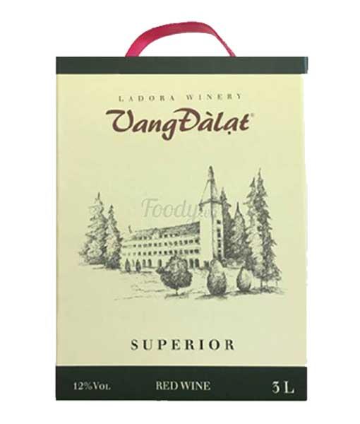 Rượu vang đà lạt Superior red wine 3 lít