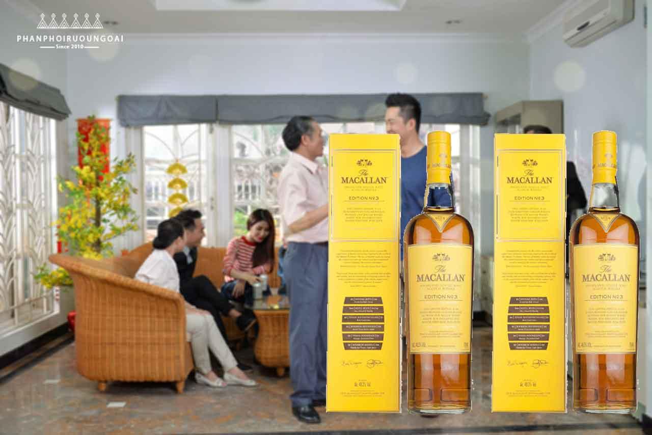 Rượu Macallan Edition No.3 món quà biếu mùa tết 2018
