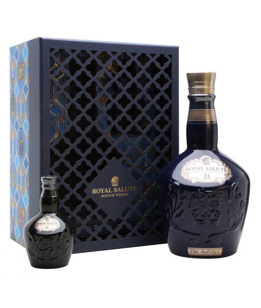 Hộp quà rượu Royal Salute 21 năm Sapphire Flagon