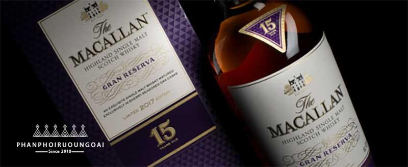 Nhãn chai rượu Macallan 15 năm Gran Reserva