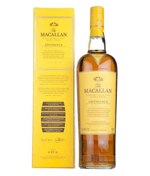 Rượu Macallan Edition No.3 và hộp giấy