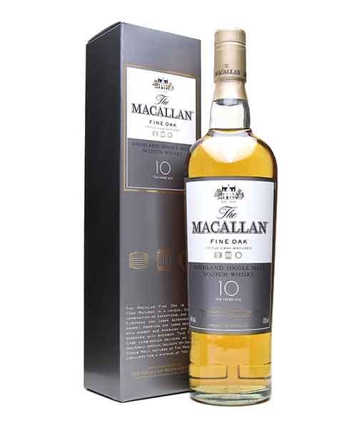 Rượu Macallan 10 năm Fine Oak và hộp giấy