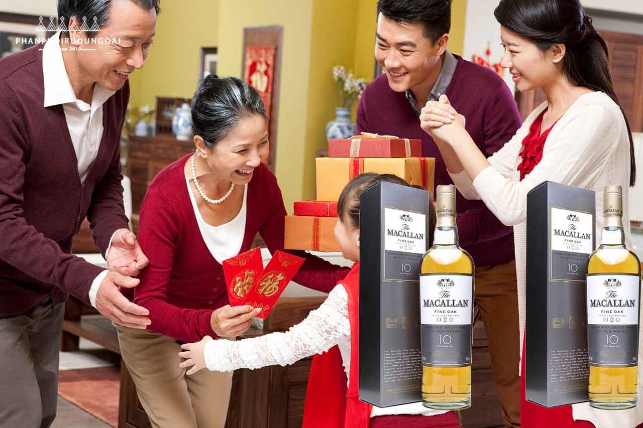 Rượu Macallan 10 năm phù hợp cho biếu tặng