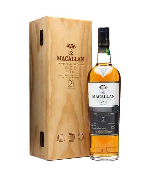 Rượu Macallan 21 năm hộp gỗ - The Macallan Fine Oak