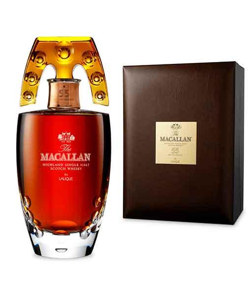 Rượu Macallan 55 năm và hộp da - The Macallan in Lalique