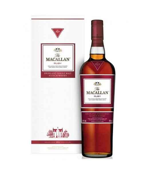 Rượu Macallan Ruby và hộp giấy