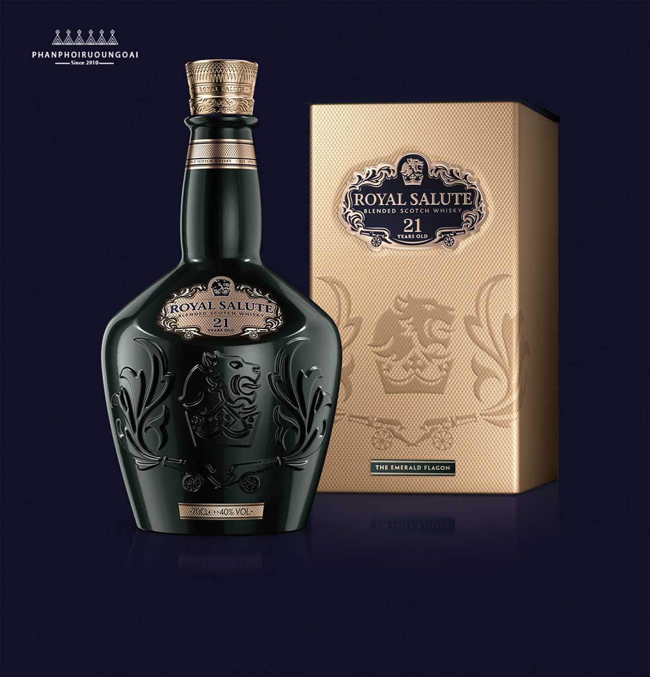 Rượu Royal Salute 21 năm Emerald Flagon