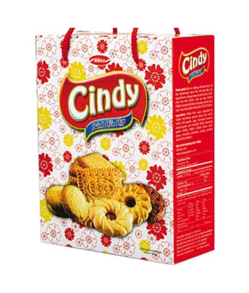Bánh hỗn hợp hộp giấy Cindy nền hoa 330 gram - Bánh Bibica