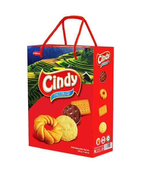 Bánh hỗn hợp hộp giấy Cindy tây bắc - Bibica
