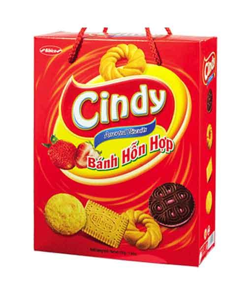 Bánh hỗn hợp hộp giấy Cindy trái dâu