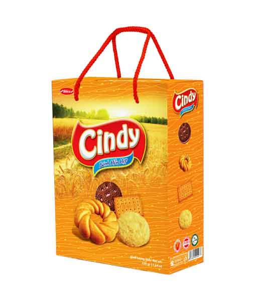 Bánh hỗn hợp hộp giấy Cindy lúa vàng 330 gram