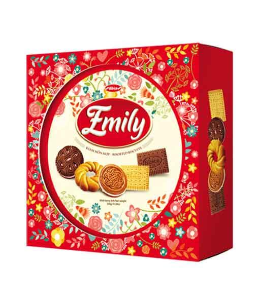 Bánh hỗn hợp hộp nhựa Emily hoa xuân 330 gram