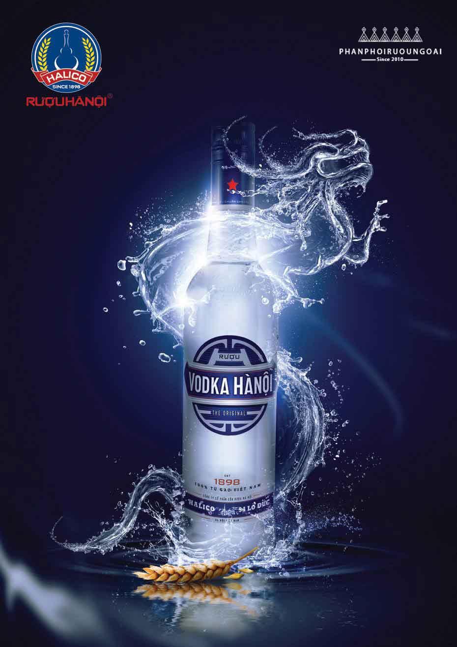 Banner quảng cáo rượu Vodka Hà Nội