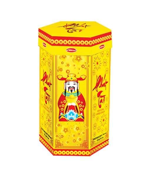 Kẹo cứng phát tài hộp giấy nền vàng 120 gram