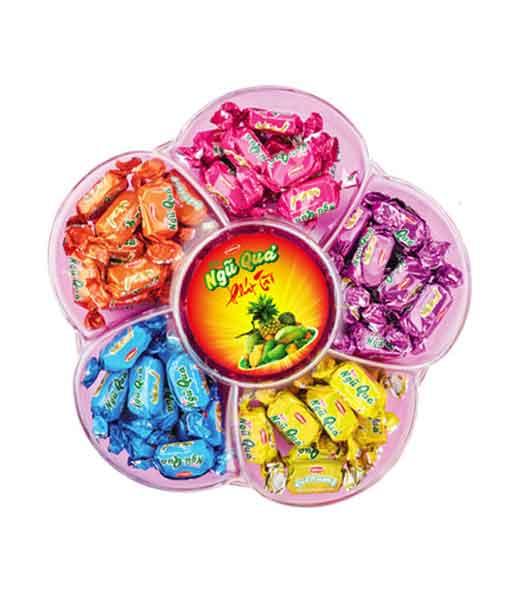 Kẹo hỗn hợp ngũ quả phát tài 270 gram - Bánh kẹo Bibica