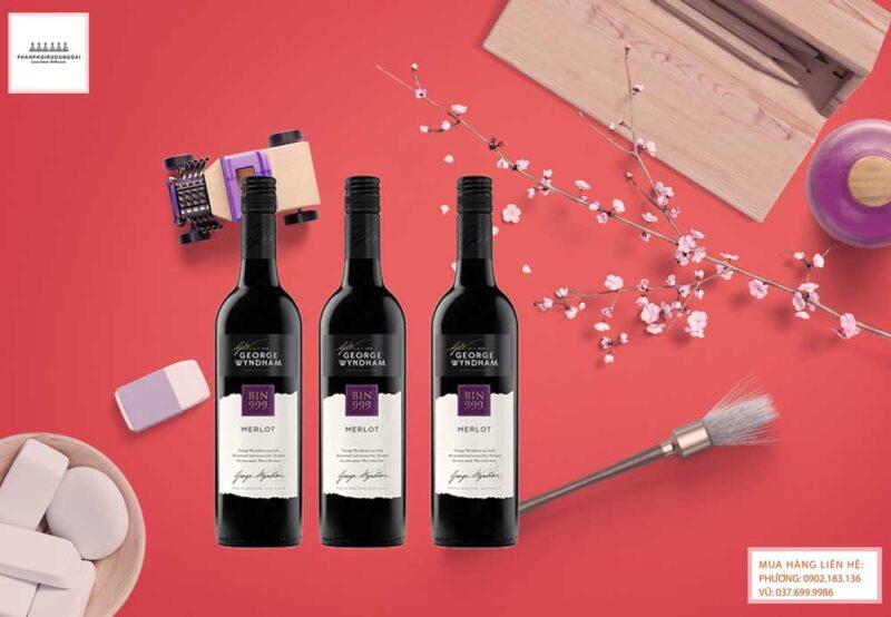 Ảnh Rượu vang Úc George Wyndham Bin 999 Merlot