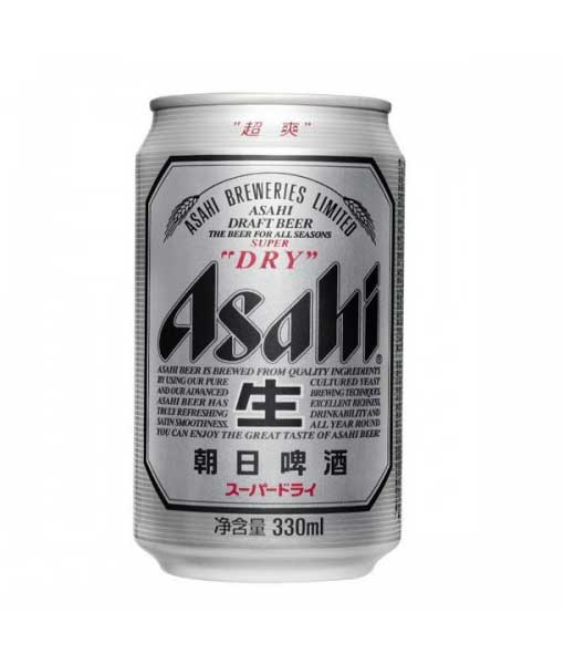 Bia lon Asahi 330 ml