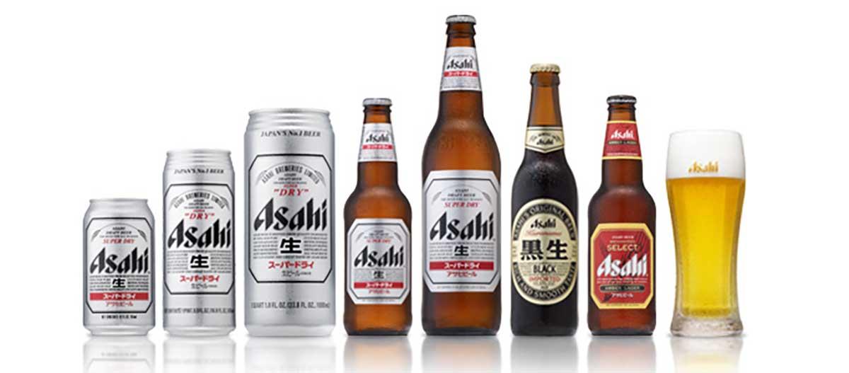 Các sản phẩm bia Asahi được phân phối trên thị trường Việt Nam