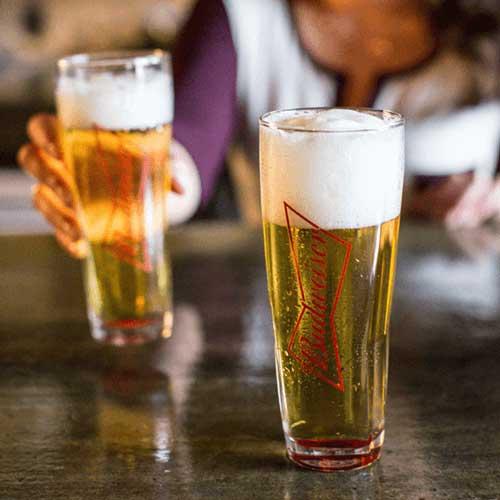 Những cốc bia Budweiser thơm ngon