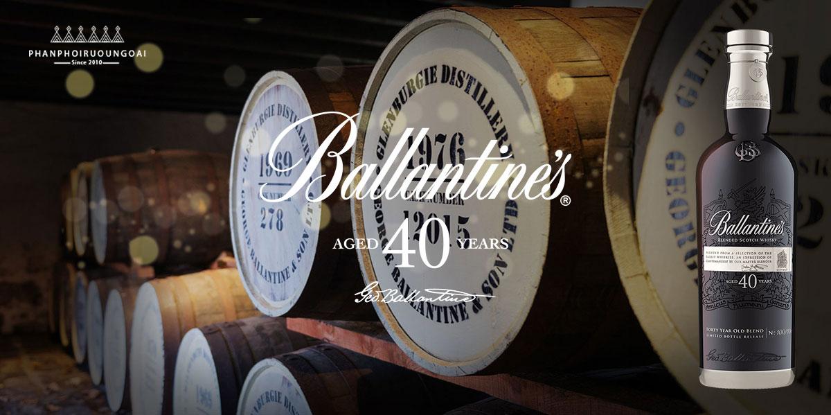 Rượu Ballantine's 40 năm di sản được truyền qua nhiều thế hệ