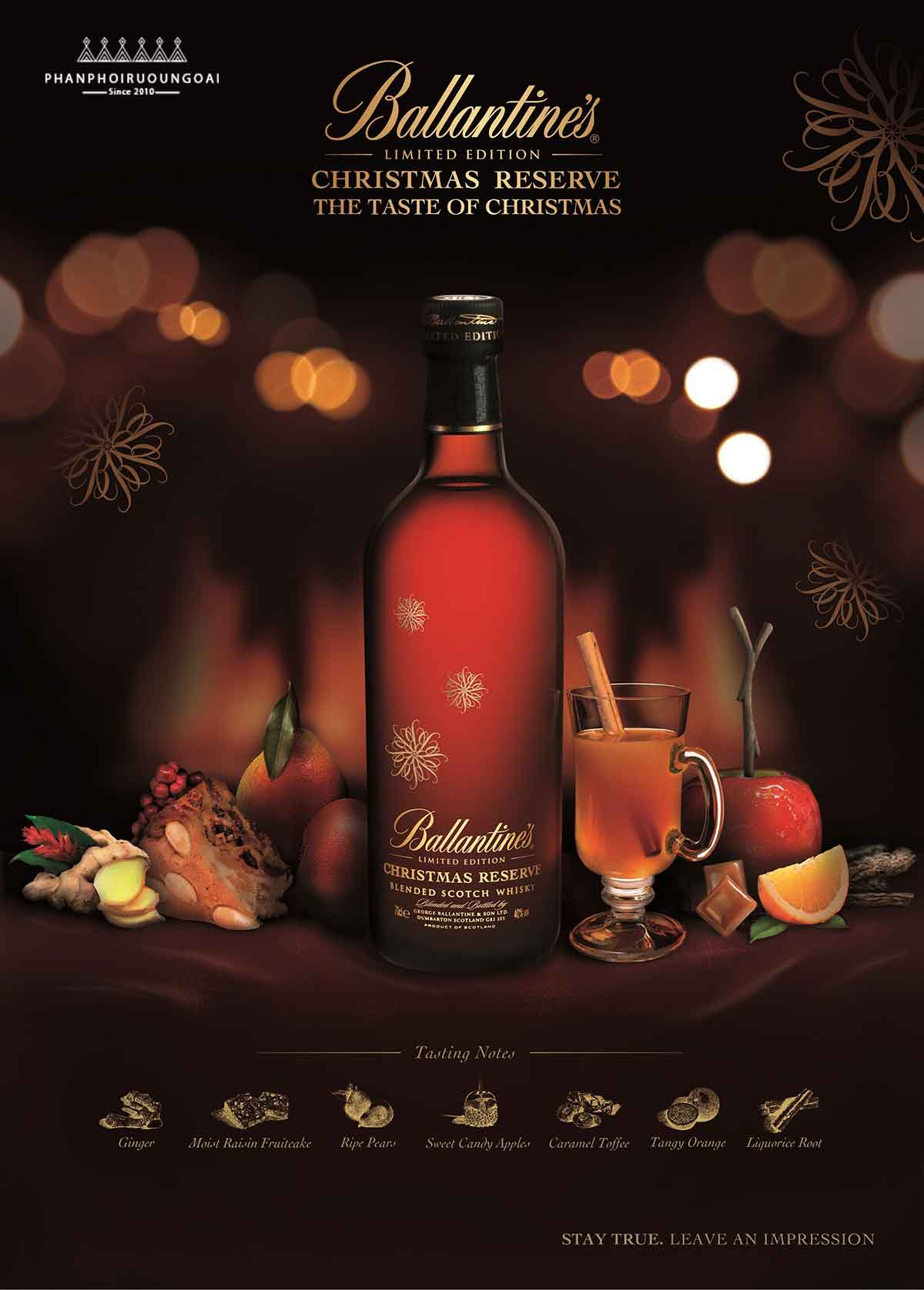 Rượu Ballantine's Christmas món quà tuyệt vời cho giáng sinh