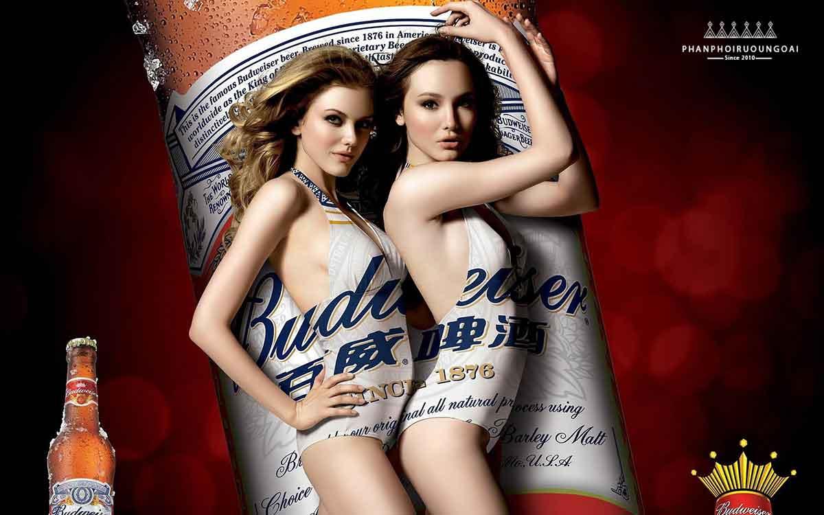Thương hiệu bia Budweiser luôn được gắn liền với các cô nàng