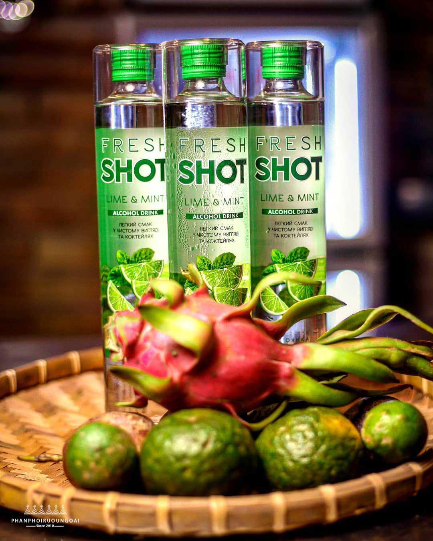 Ảnh chụp rượu nhẹ Fresh Shot Lime Mint