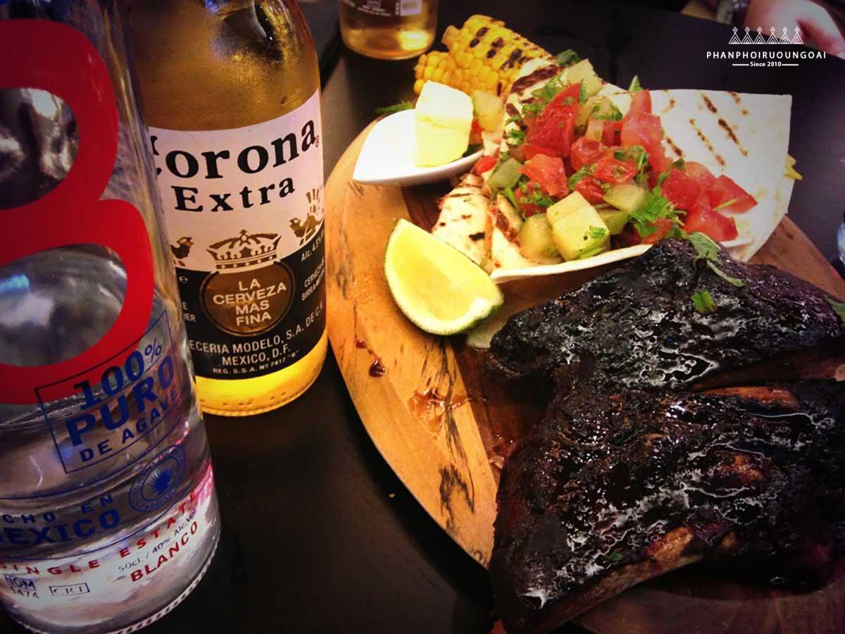 thịt bò thường được ăn khi phối với bia Corona
