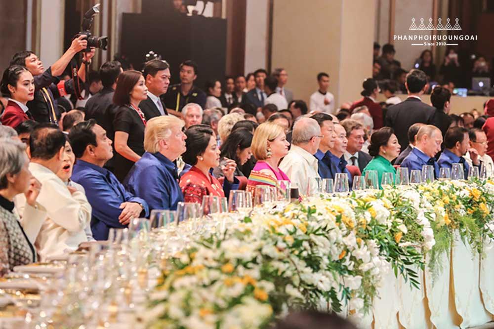 Buổi chiêu đãi các quan khách trong quốc yến APEC 2017