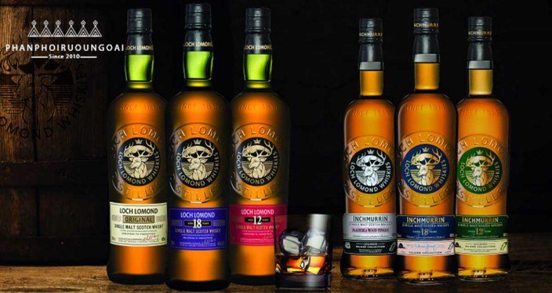 Các sản phẩm rượu của gia đình Loch Lomond